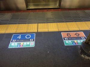 Japanischer Bahnhof mit einfacher Orientierung beim Einstieg