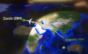 Rückflug im Dezember 2017 mit Singapore Airlines